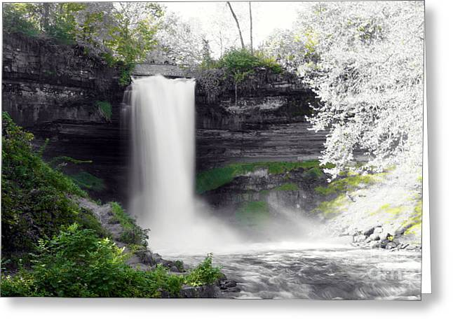 Minne Haha Falls Greeting Card