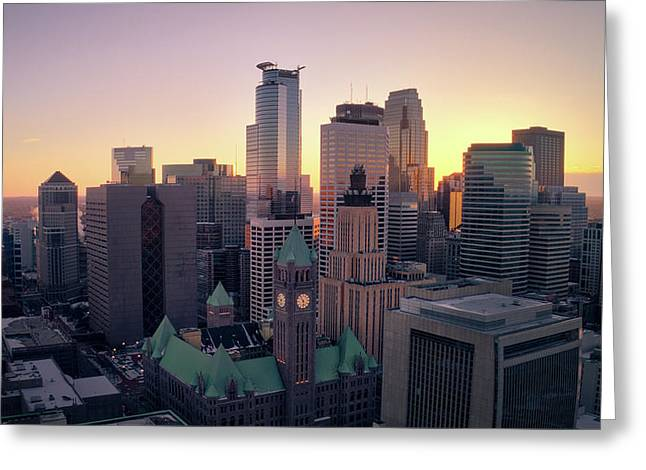 Minneapolis At Sunset Greeting Card
