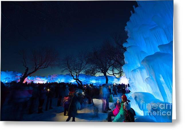 Minneapolis Ice Castles I Greeting Card by Wayne Moran