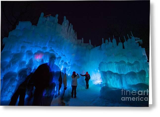 Eden Prairie Ice Castles Greeting Card by Wayne Moran