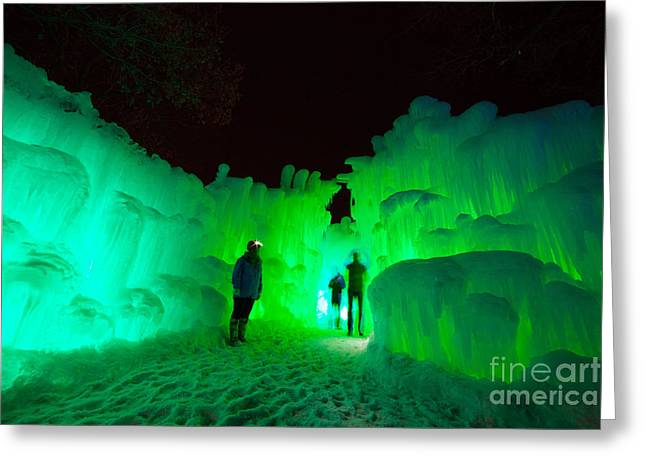 Ice Castles Of Minnesota Greeting Card