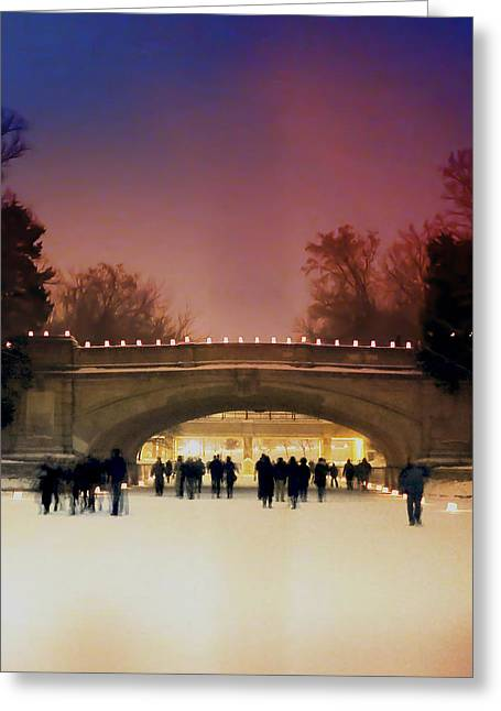 Minneapolis Loppet At Night Greeting Card