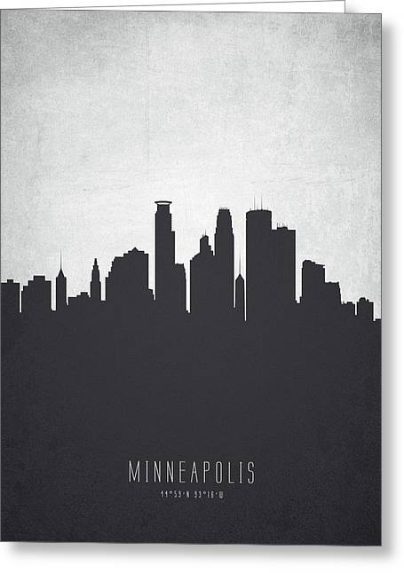 Minneapolis Minnesota Cityscape 19 Greeting Card by Aged Pixel