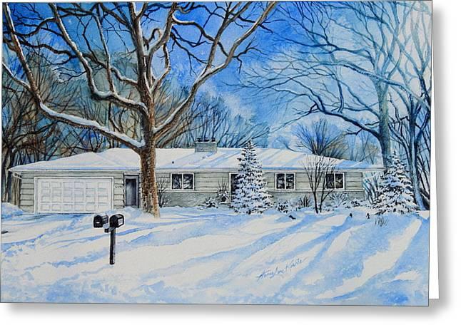 Minneapolis Mn Home Portrait Greeting Card by Hanne Lore Koehler