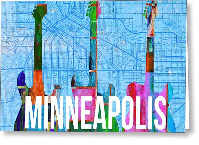 Minneapolis Music Scene Greeting Card by Edward Fielding