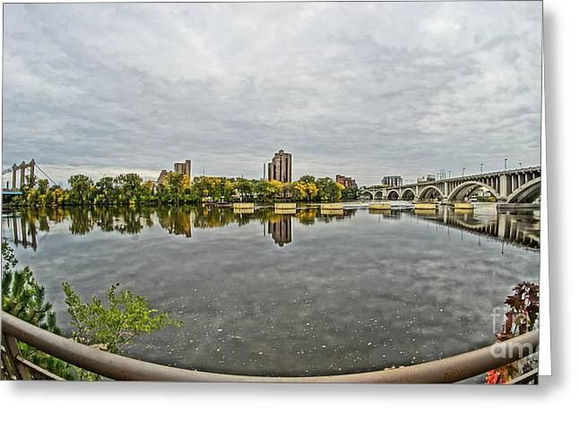 Greeting Card featuring the photograph Minneapolis Shoreline by Cj Mainor