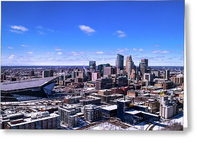 Minneapolis Skyline On A Sunny Day Greeting Card