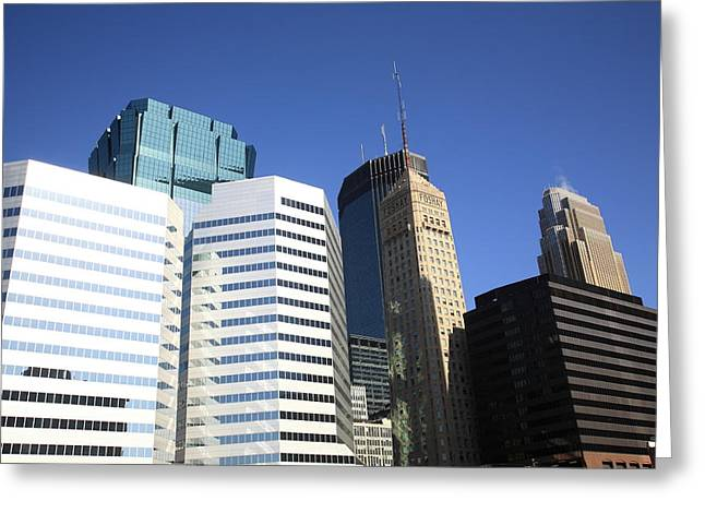 Greeting Card featuring the photograph Minneapolis Skyscrapers 11 by Frank Romeo