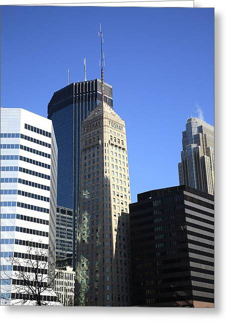 Greeting Card featuring the photograph Minneapolis Skyscrapers 12 by Frank Romeo