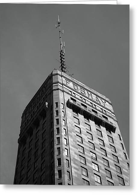 Greeting Card featuring the photograph Minneapolis Tower 6 Bw by Frank Romeo