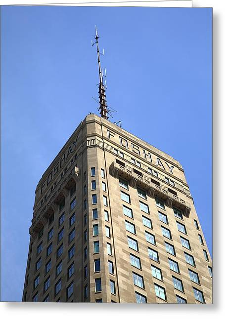 Greeting Card featuring the photograph Minneapolis Tower 6 by Frank Romeo