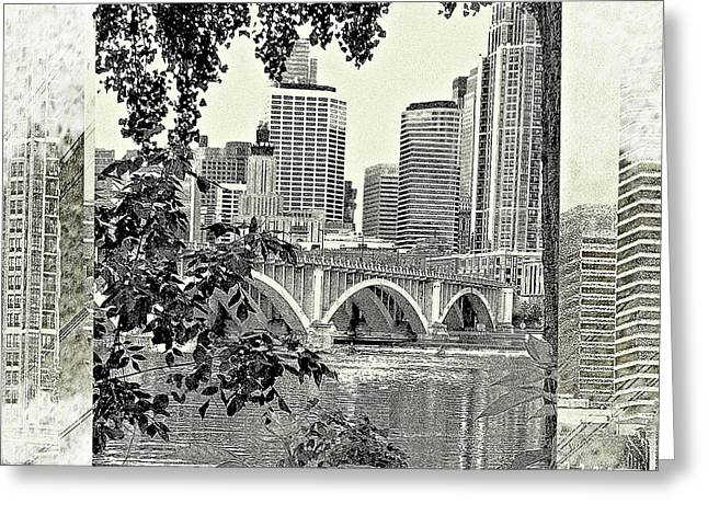 Minneapolis Vision Greeting Card by Susan Stone