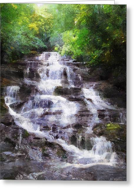Minnehaha Falls Summer Greeting Card by Francesa Miller