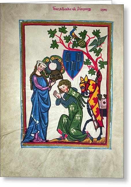 Limburg Greeting Cards - MINNESINGER, 14th CENTURY Greeting Card by Granger