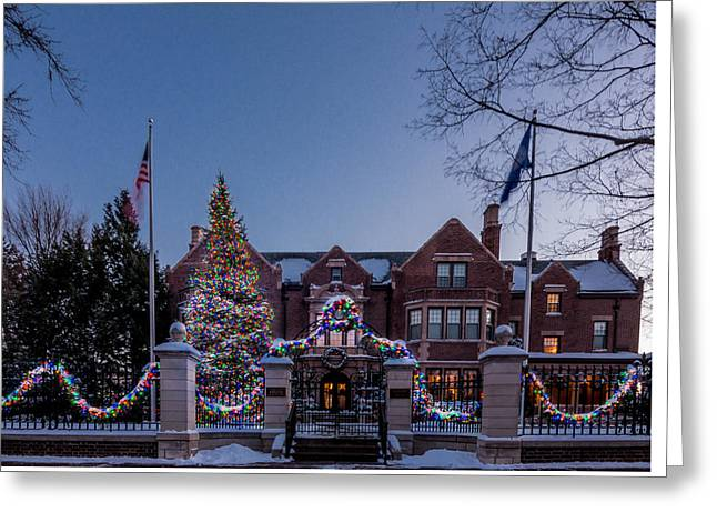 Christmas Lights Series #6 - Minnesota Governor's Mansion Greeting Card