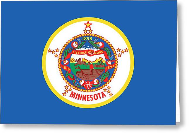 Minnesota State Flag Greeting Card by American School