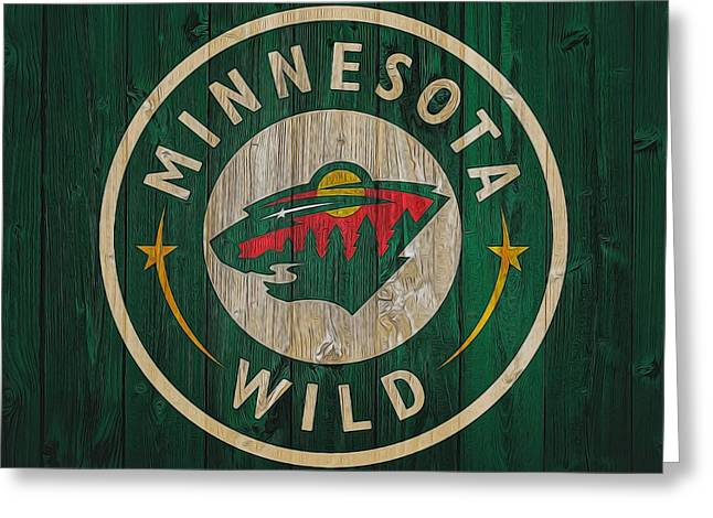 Minnesota Wild Graphic Barn Door Greeting Card