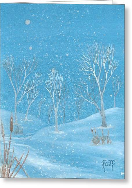 Recently Sold -  - Robert Meszaros Greeting Cards - Minnesota winter... no. two Greeting Card by Robert Meszaros