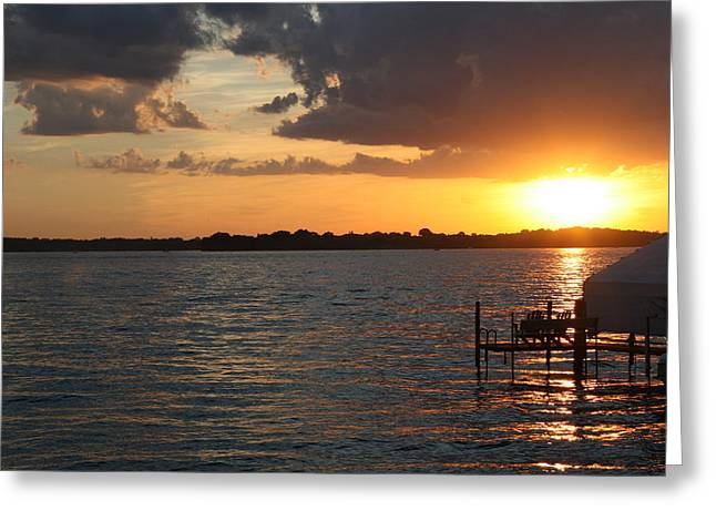 Minnetonka Sunset Greeting Card by Noah Dachis