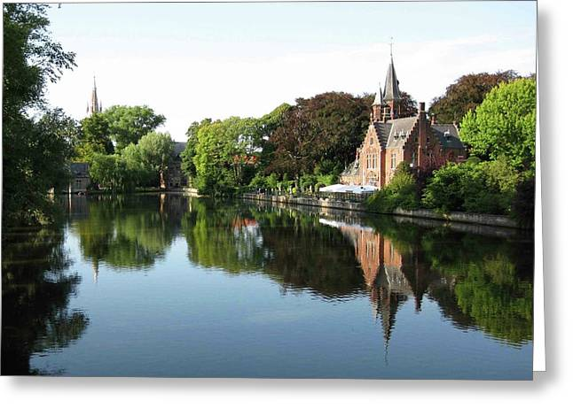 Minnetwaterpark Bruges Greeting Card by David L Griffin