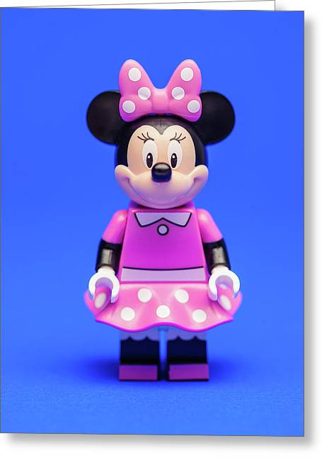 Minnie Mouse Greeting Card by Samuel Whitton