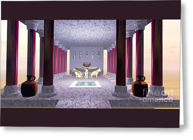 Minoan Temple Greeting Card by Corey Ford
