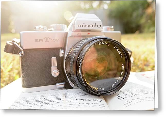 Minolta Sr-t-102 Greeting Card by Jon Woodhams
