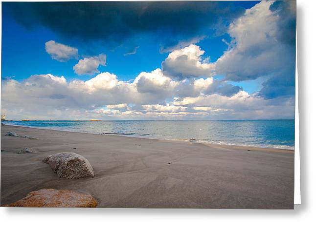 Minot Beach In Scituate Massachusetts  Greeting Card