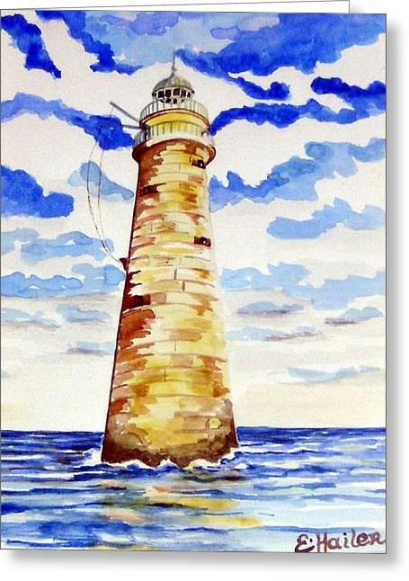 Minot Lighthouse Greeting Card by Elaine Cummins