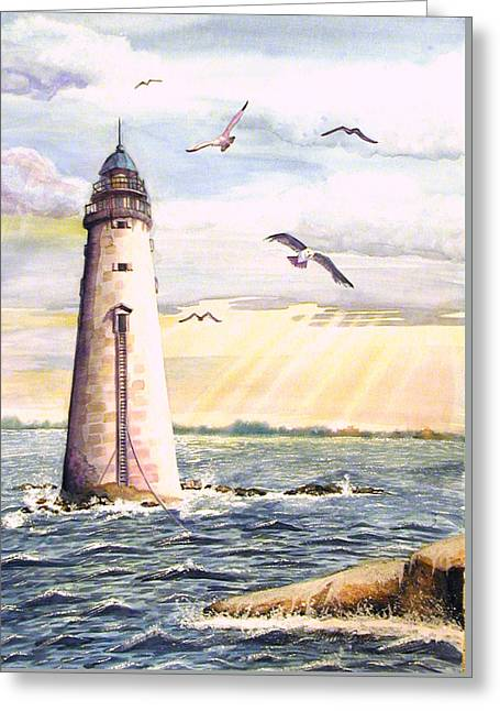 Minot Lighthouse Or The I Love You Lighthouse Greeting Card