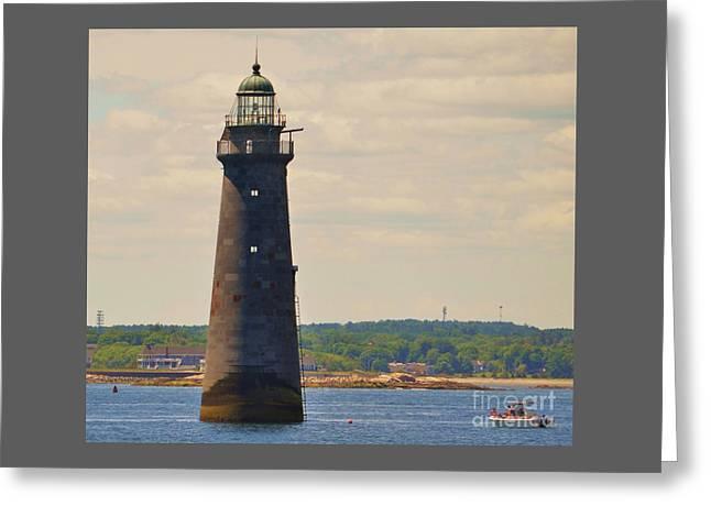 Minot's Ledge Lighthouse # 2 Greeting Card