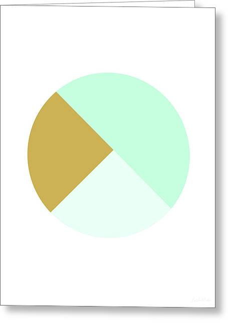 Mint And Gold Ball- By Linda Woods Greeting Card