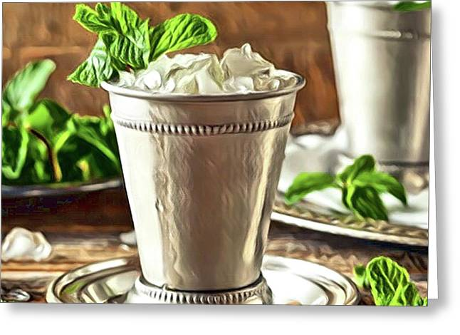 Mint Julep Double Greeting Card