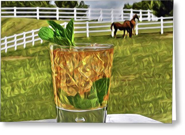 Mint Julep Kentucky Derby Greeting Card