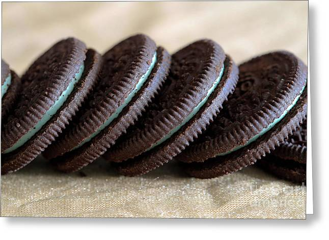 Mint Oreos Greeting Card by Tracy Hall