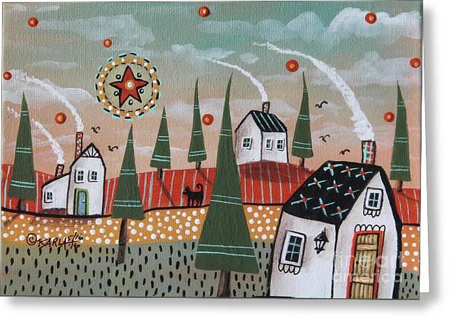 Mint Sky Greeting Card by Karla Gerard