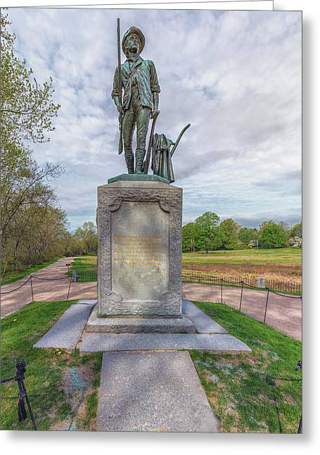 Minute Man Sculpture Concord, Massachusetts Greeting Card