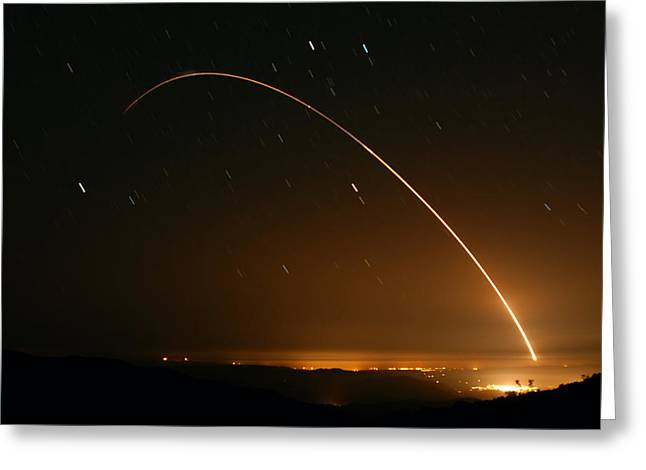 Minuteman IIi Launch April 2 2008 Greeting Card by Brian Lockett