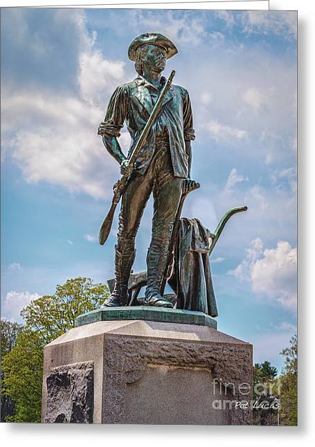 Minuteman Statue Greeting Card by Pat Lucas