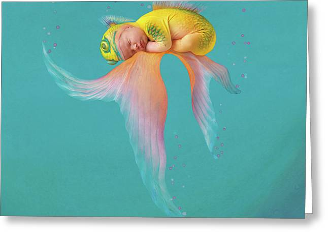 Mira As A Tropical Fish Greeting Card by Anne Geddes