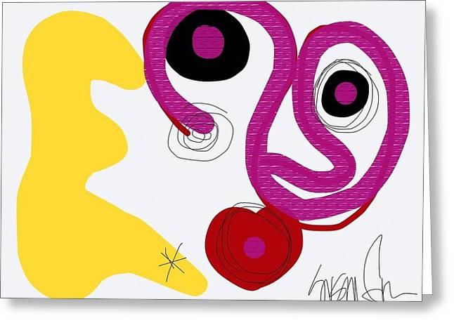 Miro Miro On The Wall Greeting Card