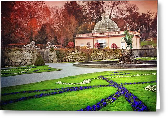 Mirabell Gardens Salzburg  Greeting Card
