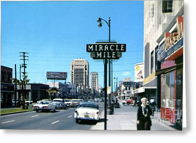 Miracle Mile - Wilshire Blvd - Los Angeles Greeting Card