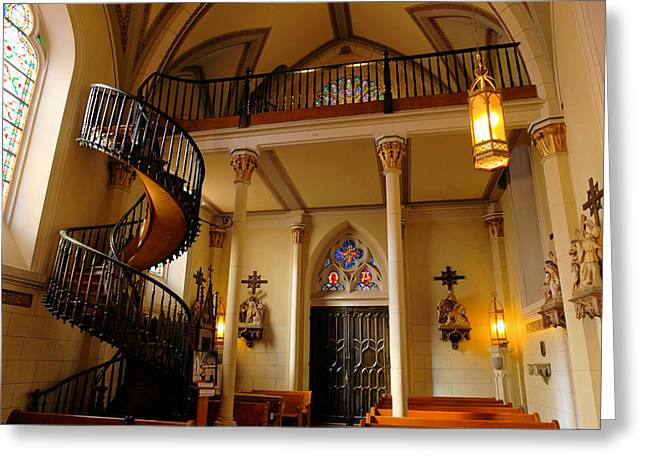Miraculous Staircase Greeting Card by Jeff Swan