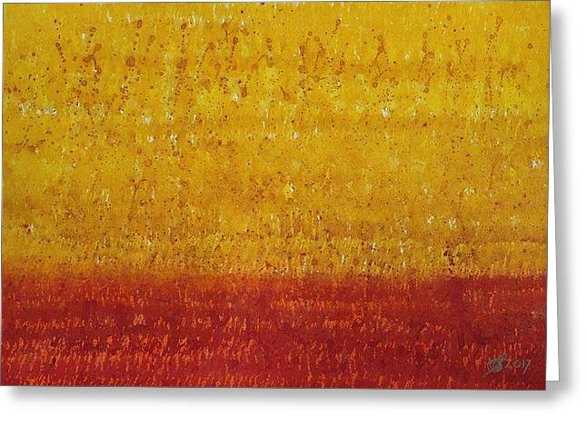 Mirage Original Painting Greeting Card by Sol Luckman