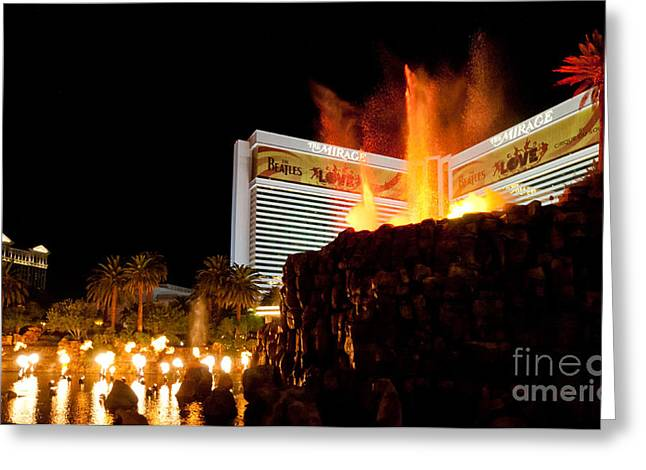 Mirage Volcano Greeting Card by Andy Smy
