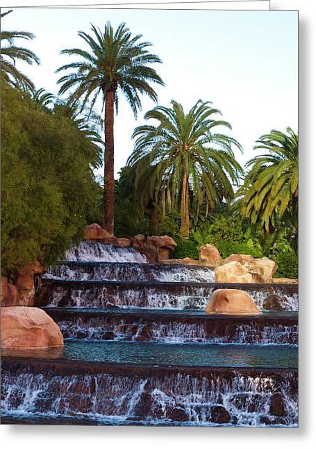 Mirage Waterfall Greeting Card by Rae Tucker