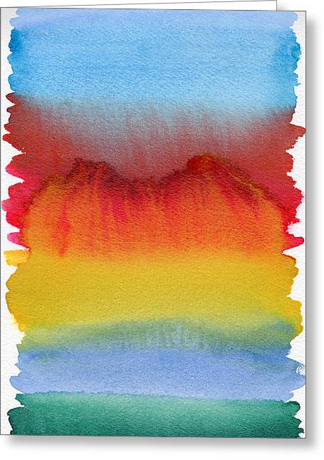 Greeting Card featuring the painting Miraggio by Bee-Bee Deigner