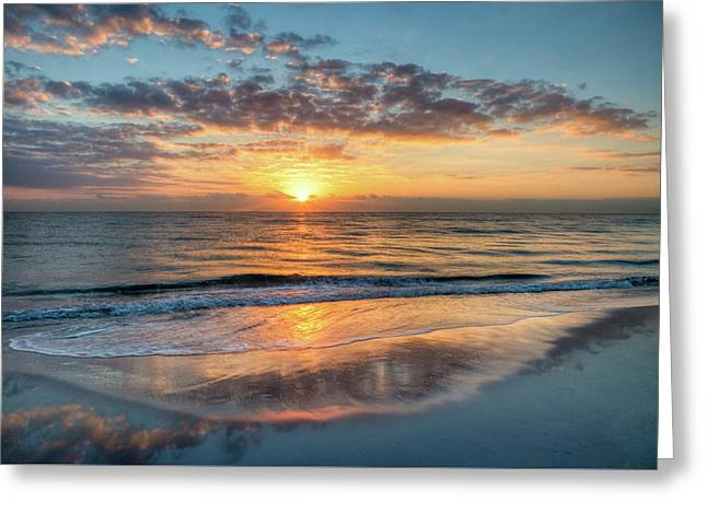 Greeting Card featuring the photograph Mirror At Sunrise by Debra and Dave Vanderlaan