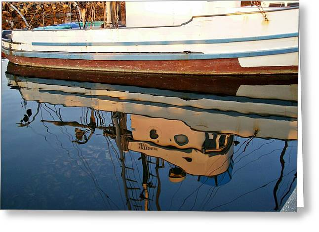 Mirror Image Greeting Card by Carol Grimes